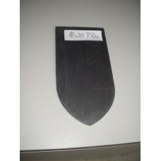 Кровельный сланец черный Штык лопаты 4-6 мм размер 40*20 см