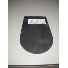 Кровельный сланец черный 4-6 мм лепесток размер 35*25 мм