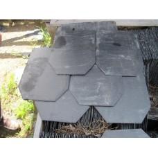 Кровельный сланец черный Охива 6-8 мм размер 35*25 мм